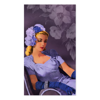 Sheila - 1940s Evening Wear in Lavender and Mauve Business Cards