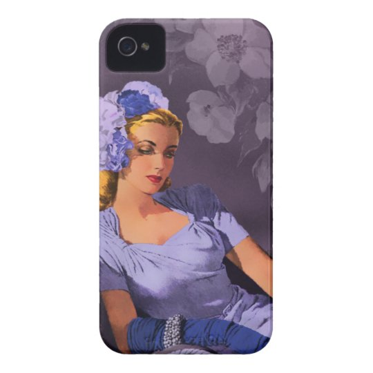 Sheila - 1940s Evening Wear in Lavender and Mauve iPhone 4 Cover