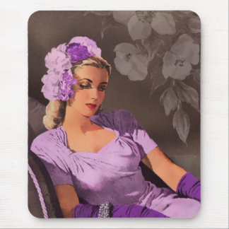 Sheila - 1940s Evening Wear in Lilac and Taupe Mouse Pad