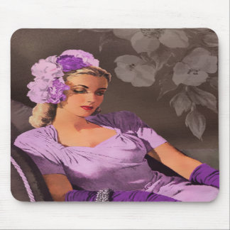 Sheila - 1940s Evening Wear in Lilac and Taupe Mouse Pads