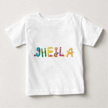 Beach Themed Sheila Baby T-Shirt