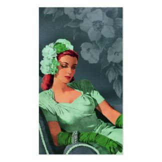 Sheila - los años 40 que igualan desgaste en verde tarjetas de visita
