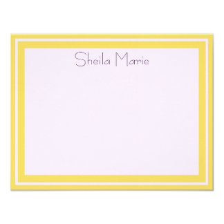 Sheila Marie Gold Border Personalized Corresponden Card