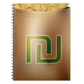 Shekel Gold Coin Money Bag Icon Note Books