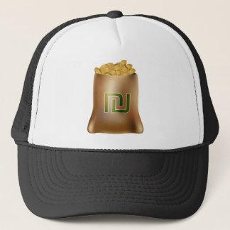 Shekel Gold Coin Money Bag Icon Trucker Hat