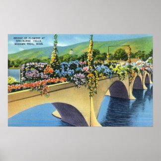 Shelburne baja puente de flores impresiones
