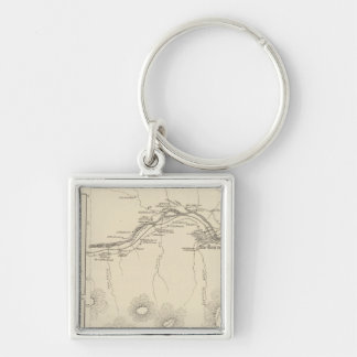Shelburne, Coos Co Silver-Colored Square Keychain