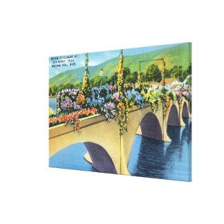 Shelburne Falls Bridge of Flowers Canvas Print