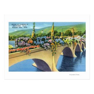 Shelburne Falls Bridge of Flowers Postcard