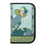 Shelby, 1920s Lady in Aqua and Teal Planner