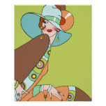 Shelby, 1920s Lady in Kiwi and Brown Poster