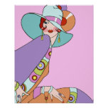 Shelby, 1920s Lady in Lilac and Lavender Posters
