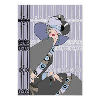Shelby, 1930s Lady in Mauve and Gray Poster