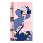 Shelby, 1930s Lady in Pink and Blue Double-Sided Standard Business Cards (Pack Of 100)