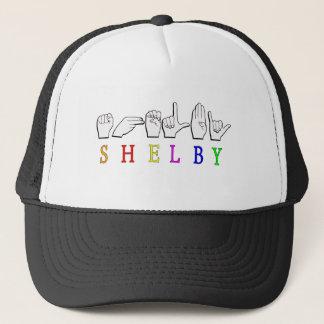 SHELBY ASL NAME SIGN FINGERSPELLED TRUCKER HAT