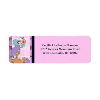 Shelby Duo in Lilac and Lavender Return Address Label