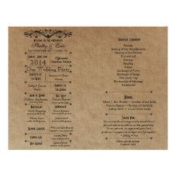Shelby Eric Custom Wedding Program Final Ver3 Full Color Flyer