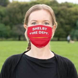 SHELBY FIRE DEPT. CLOTH FACE MASK