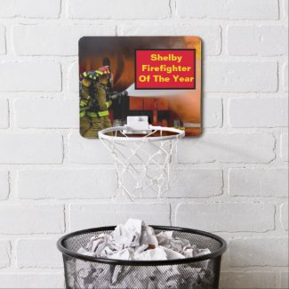 Shelby Firefighter Of The Year Mini Basketball Hoop