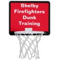 Shelby Firefighters Dunk Training Red/Black Mini Basketball Hoop