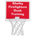 Shelby Firefighters Dunk Training Red/White Mini Basketball Hoop