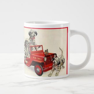 Shelby Firefighters On The Way Giant Coffee Mug