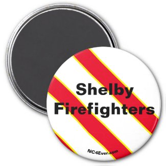 Shelby Firefighters Red/Yellow/White/Black magnet