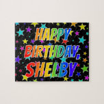 """[ Thumbnail: """"Shelby"""" First Name, Fun """"Happy Birthday"""" Jigsaw Puzzle ]"""