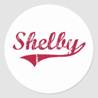 Shelby Mississippi Classic Design Classic Round Sticker