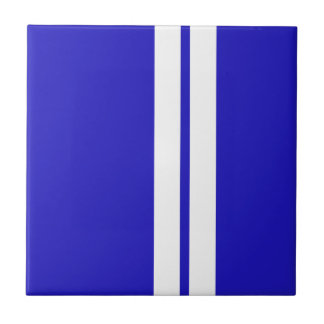 Shelby Mustang Racing Stripes - Race Car Small Square Tile