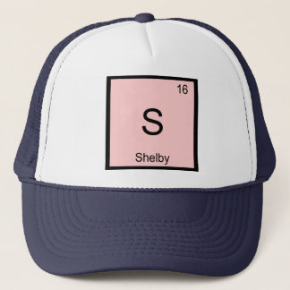 Shelby Name Chemistry Element Periodic Table Trucker Hat
