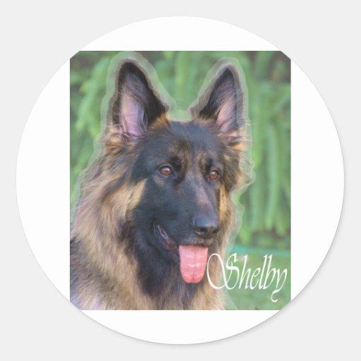 Shelby Pegatina Redonda