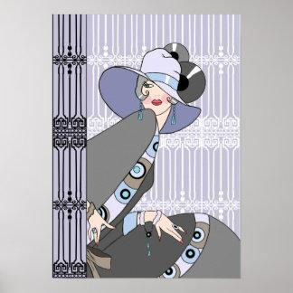 Shelby, señora de los años 30 en de color de malva póster