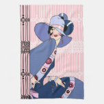 Shelby, señora del art déco de los años 20 en rosa toalla de mano