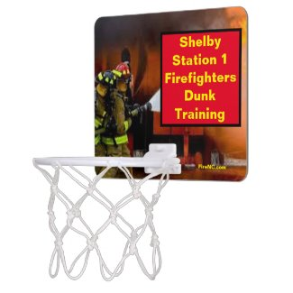 Shelby Station 1 Firefighters Dunk Training Mini Basketball Hoop