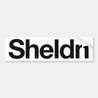 Sheldn bumper sticker