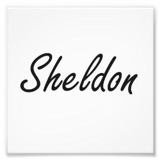 Sheldon Artistic Name Design Photo Print
