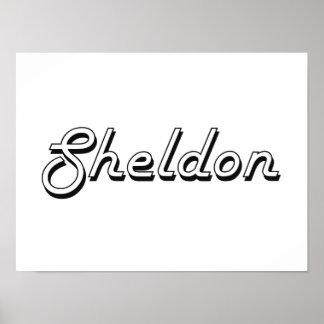 Sheldon Classic Retro Name Design Poster