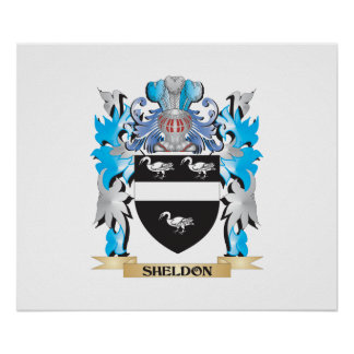 Sheldon Coat of Arms - Family Crest Poster