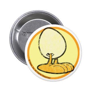 Sheldon el botón del huevo pin redondo de 2 pulgadas