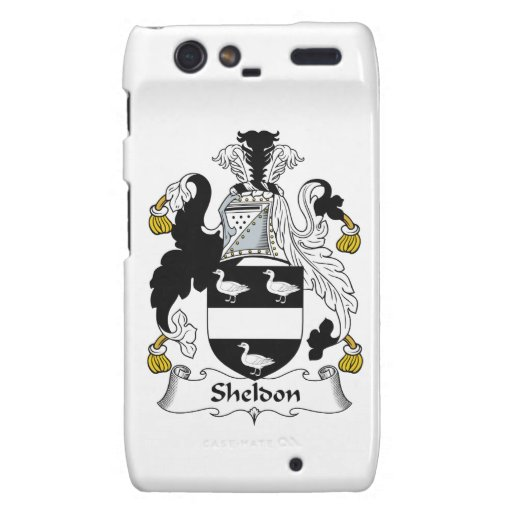 Sheldon Family Crest Motorola Droid RAZR Covers