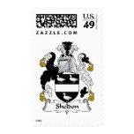Sheldon Family Crest Postage Stamp