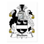 Sheldon Family Crest Postcard