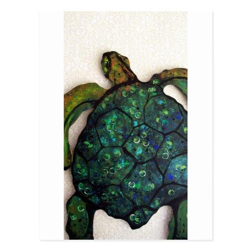 Sheldon the Sea turtle Postcard