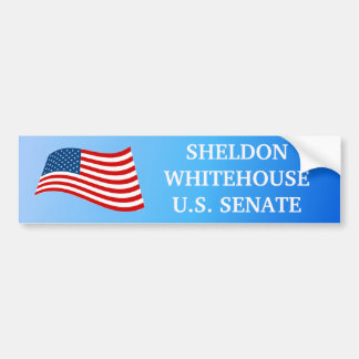 Sheldon Whitehouse para la pegatina para el parach Etiqueta De Parachoque