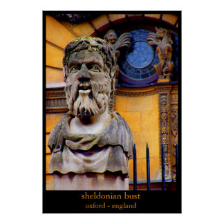 sheldonian bust poster