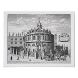Sheldonian Theatre, Oxford, from 'Oxonia Illustrat Poster