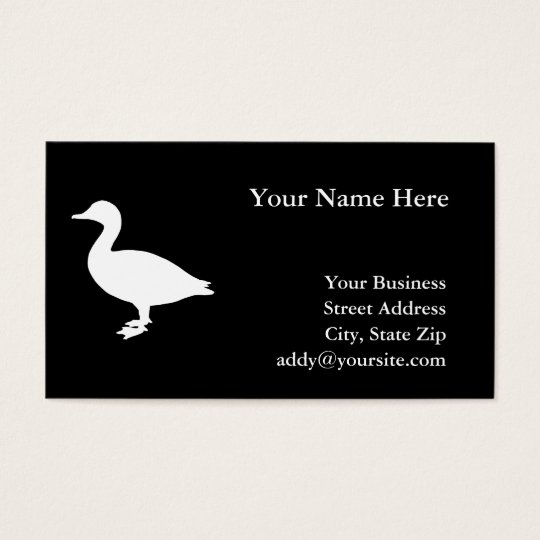 Sheldrake Duck Business Card
