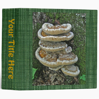 Shelf Fungi on Stump 3 Ring Binder
