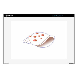 "Shell Applique 15"" Laptop Skin"